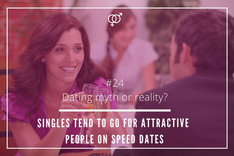 singles tend to go for attractive people on speed dates