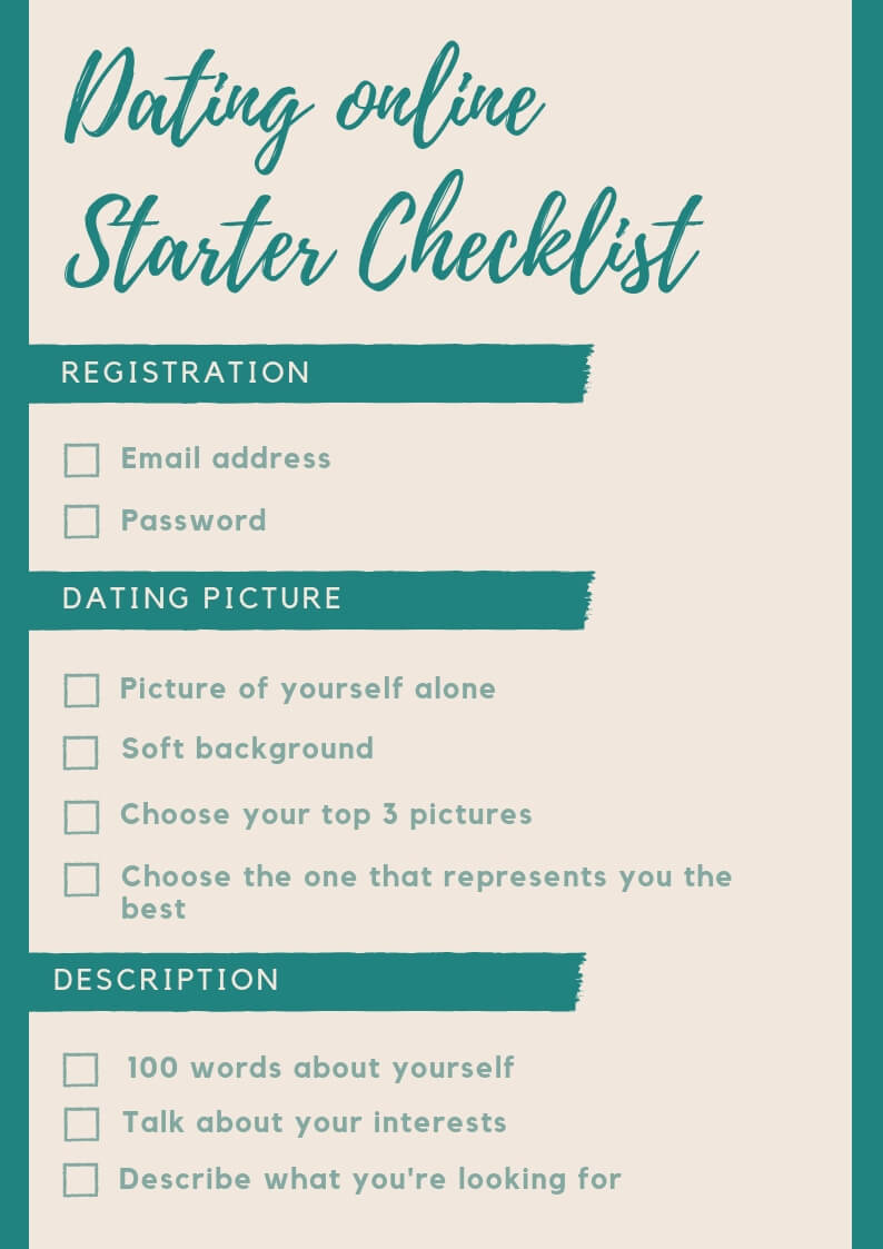 Free Printable Dating profile Cheat Sheet