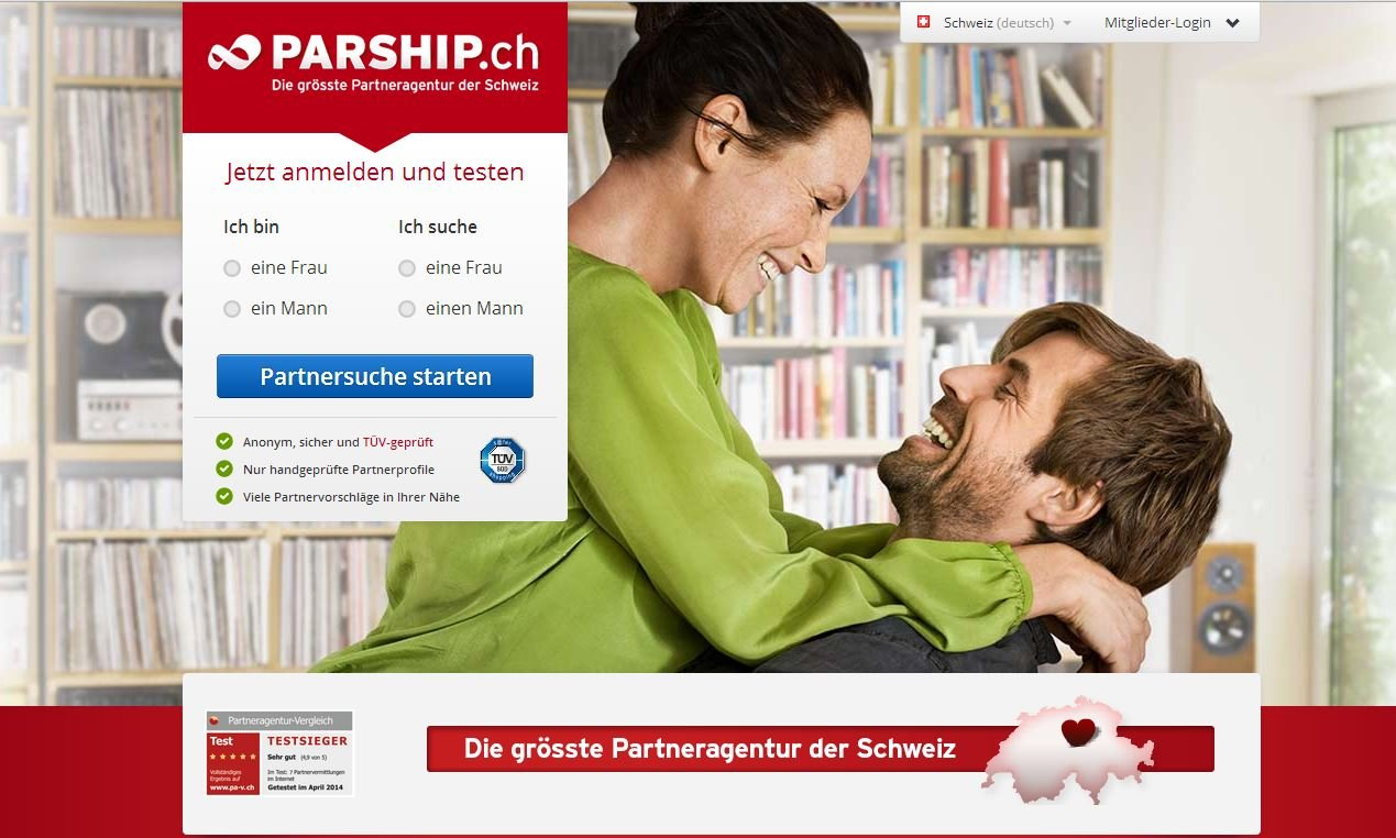 Dating sites: Parship.ch