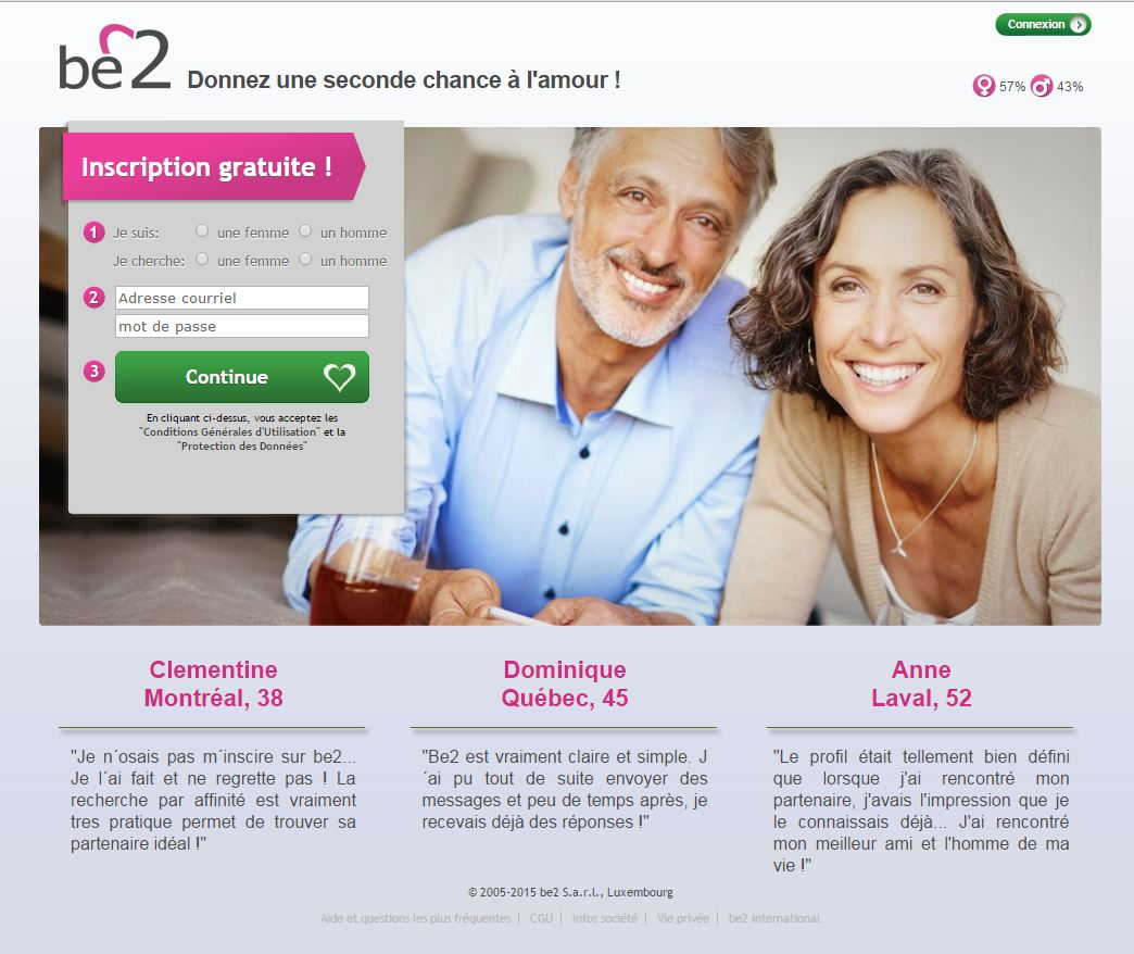 Sites de rencontre: be2.ca