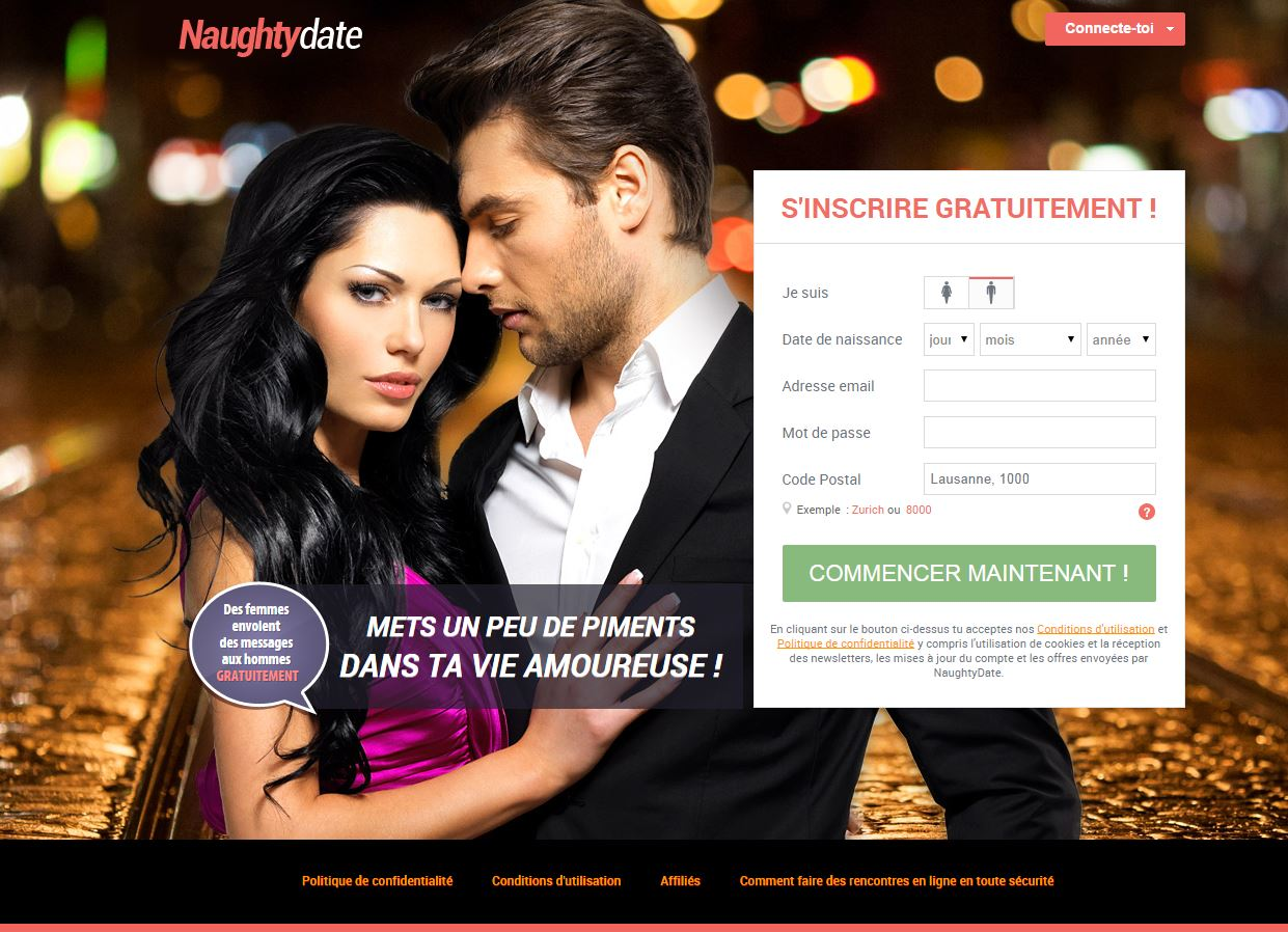 Sites de rencontre: NaughtyDate