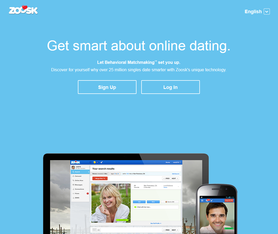 Dating sites: Zoosk.com