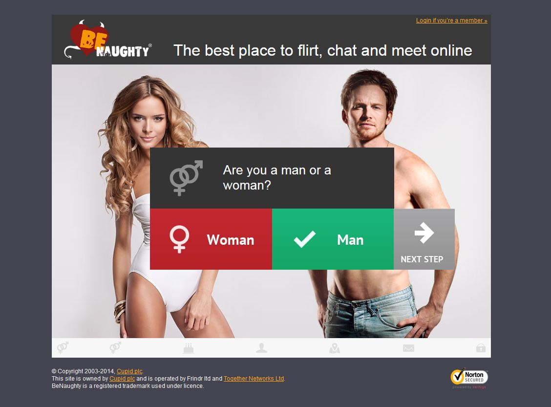 Benaughty dating site