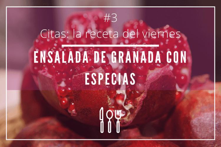 Ensalada de granada con especias citas recetas - Cita romantica en casa ...