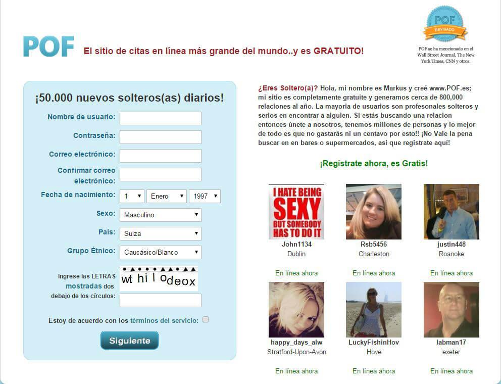 registro gratuito del sitios de citas totalmente
