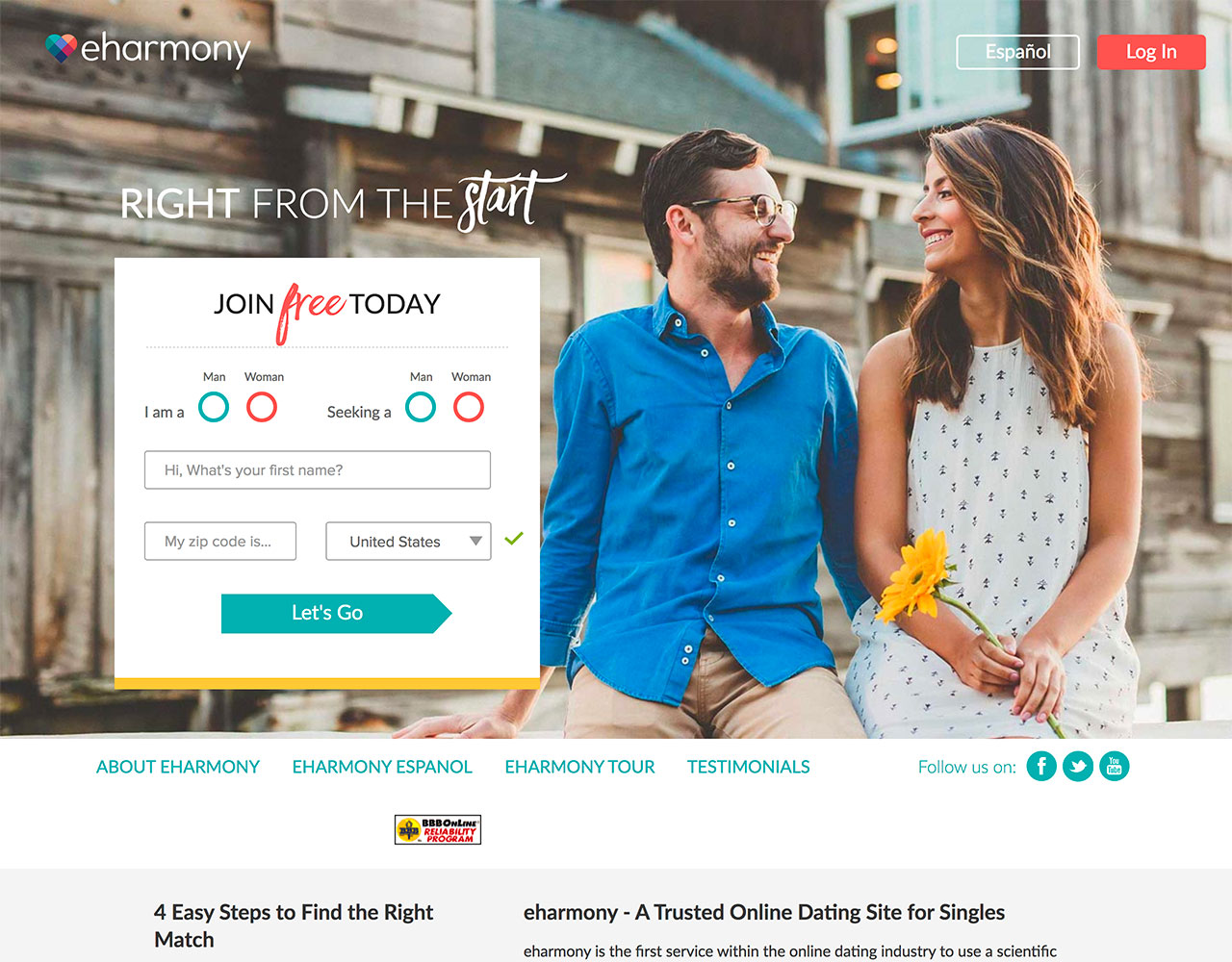 Dating sites: eHarmony | 30% OFF a 6-month Membership