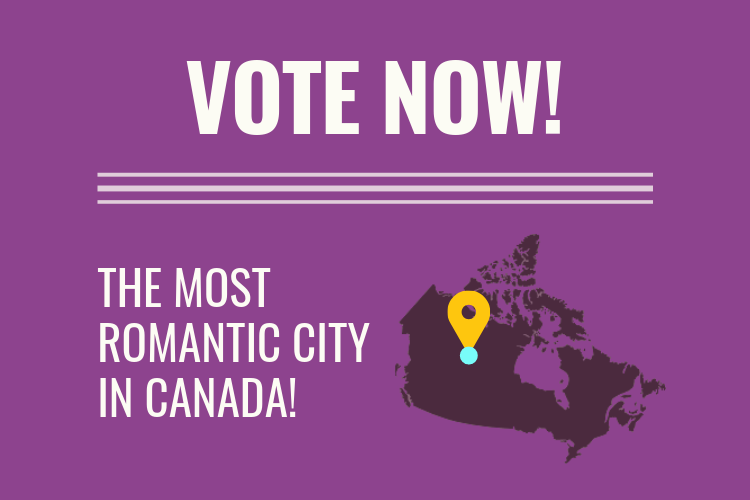 vote most romantic city canada
