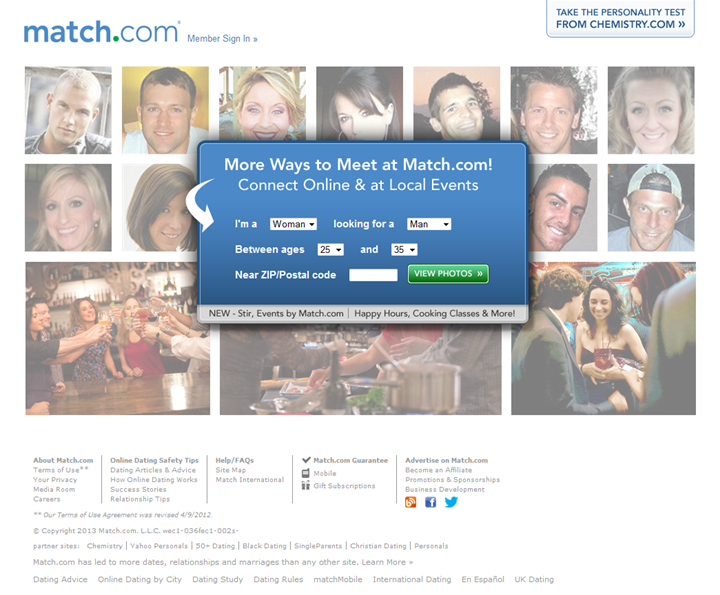 Match com main website
