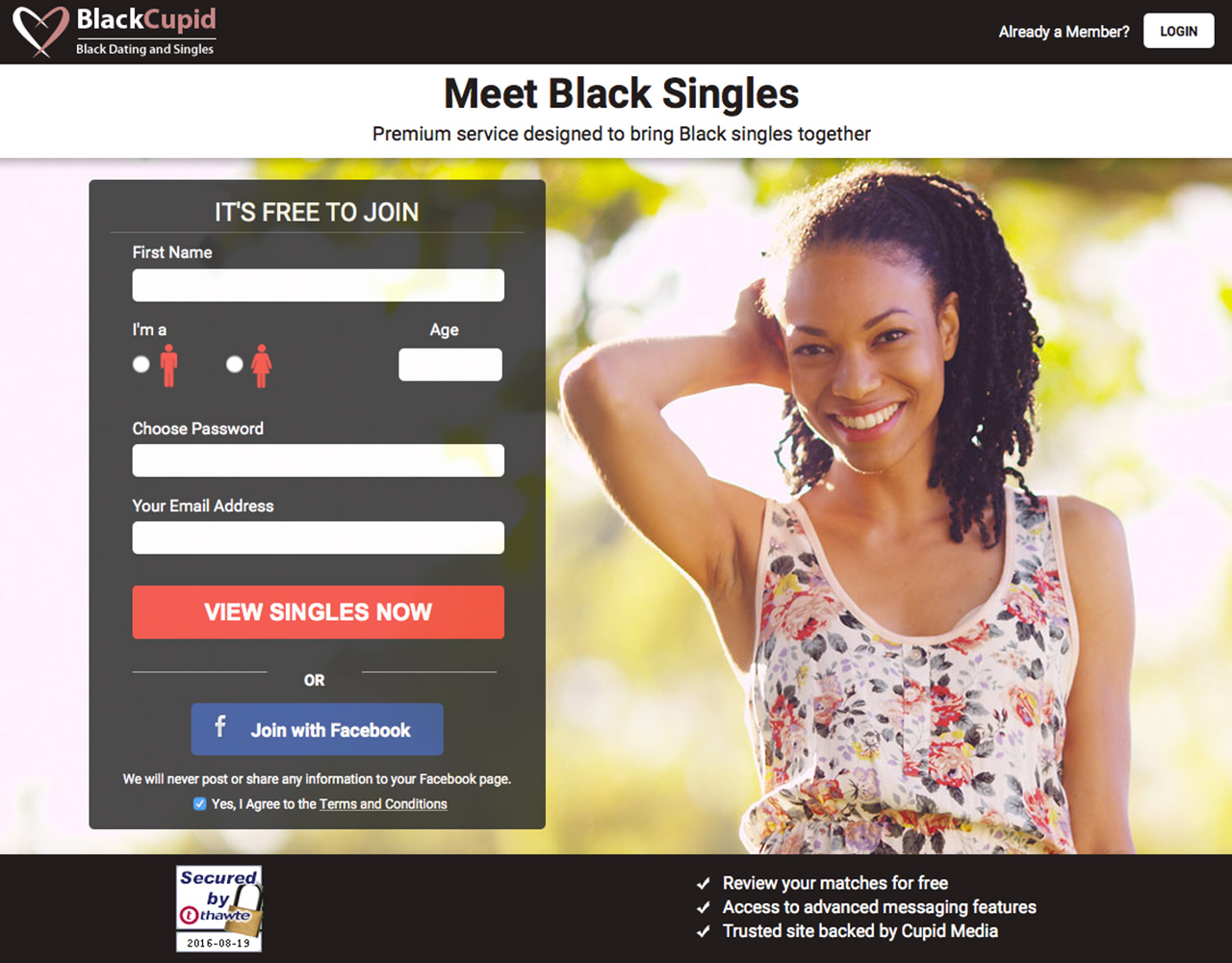 Dating sites: BlackCupid