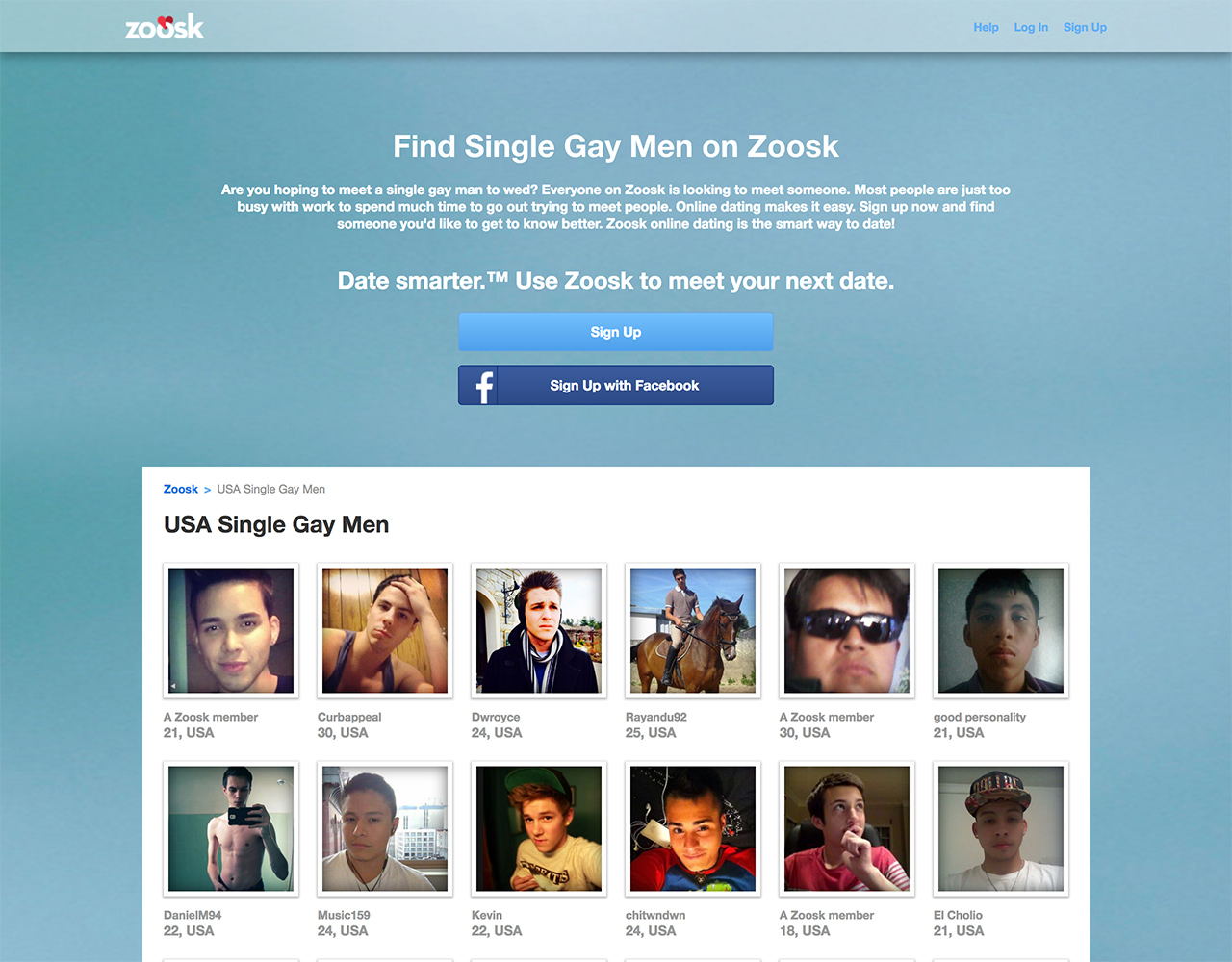 Gay website with