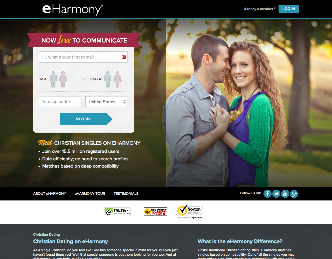 Dating sites eharmony
