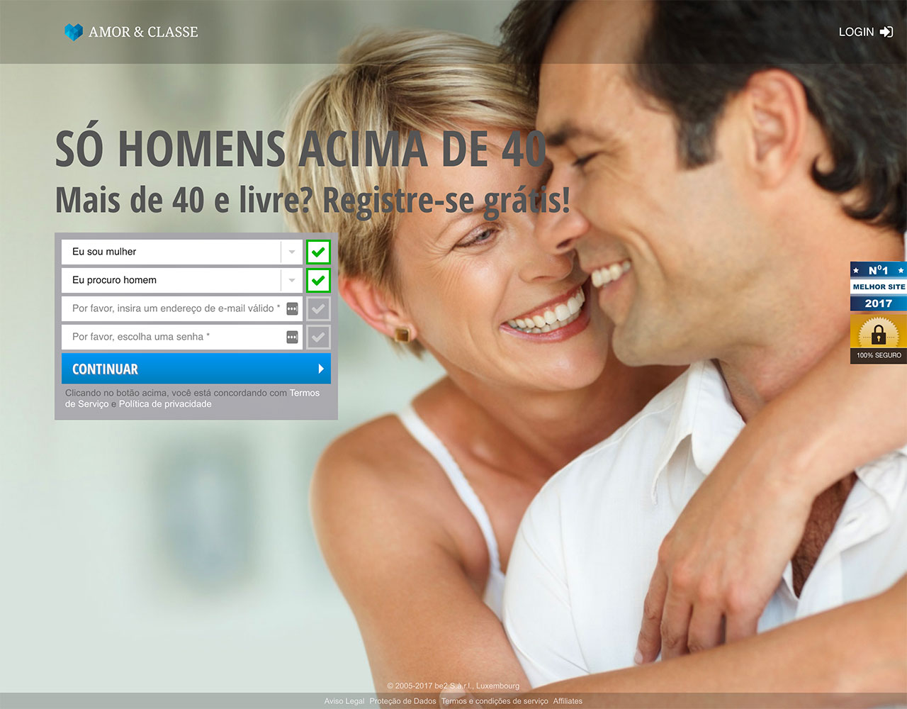Dating sites: Amor & Classe