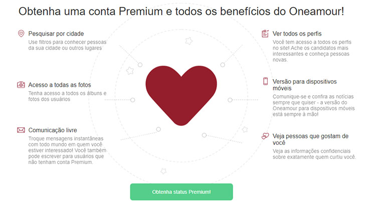 Opiniao OneAmour site de namoro