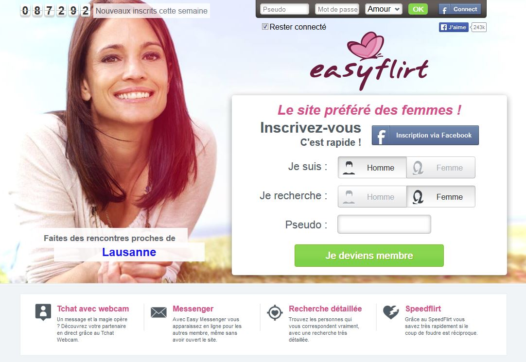 Sites de rencontre: Easyflirt
