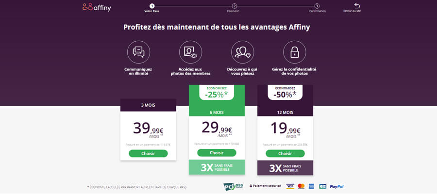 prix affiny meetic