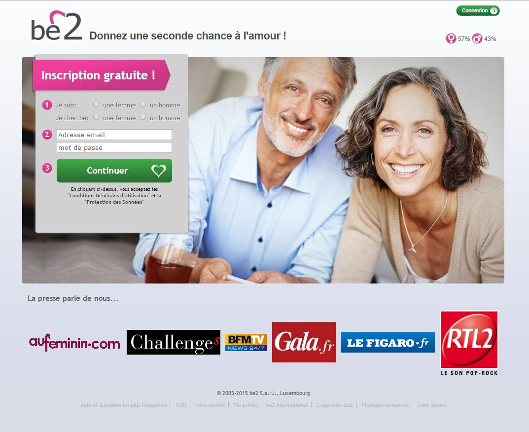 Sites de rencontre: be2.be