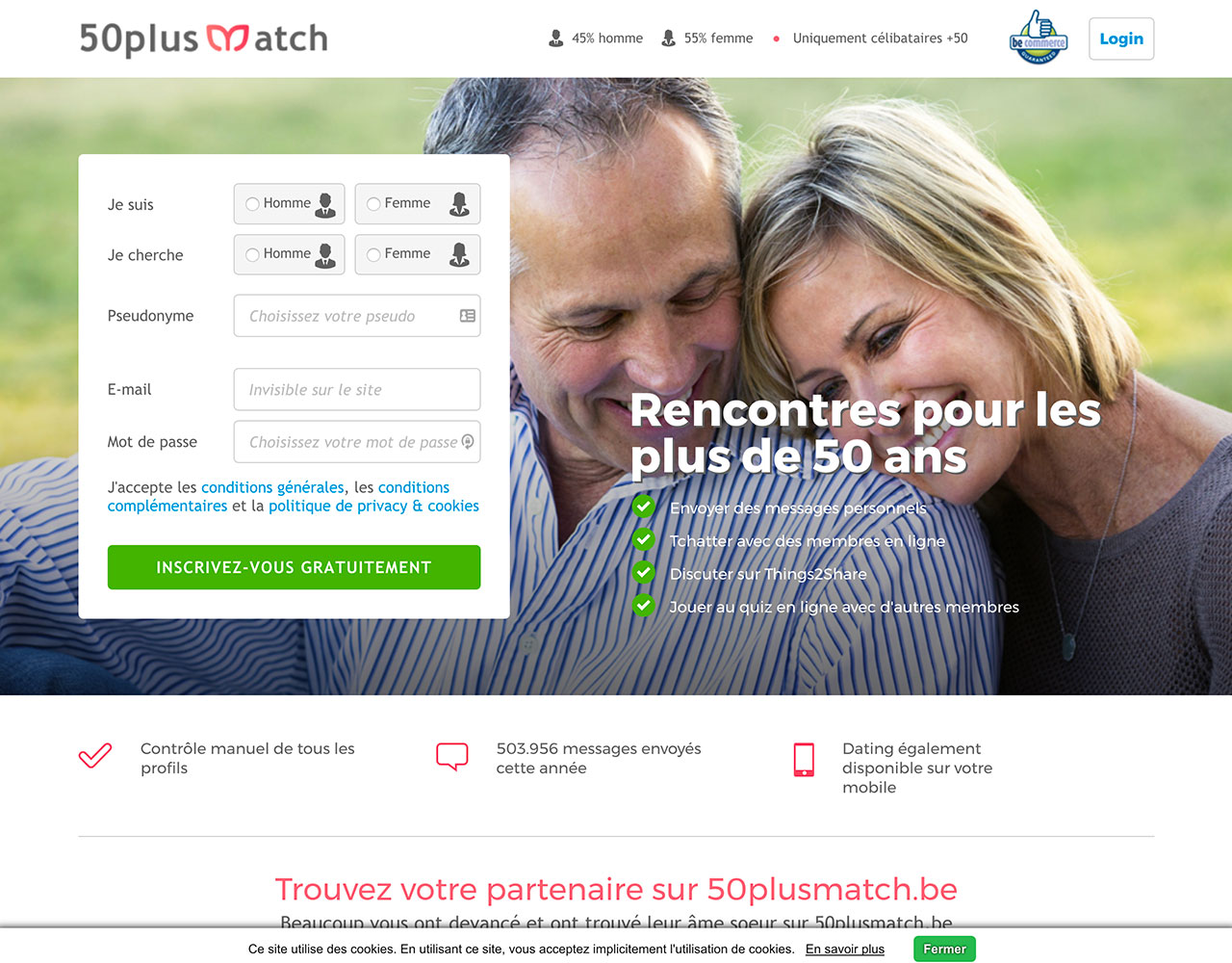 Sites de rencontre: 50plusMatch