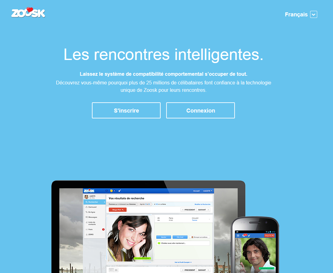 Sites de rencontre: Zoosk