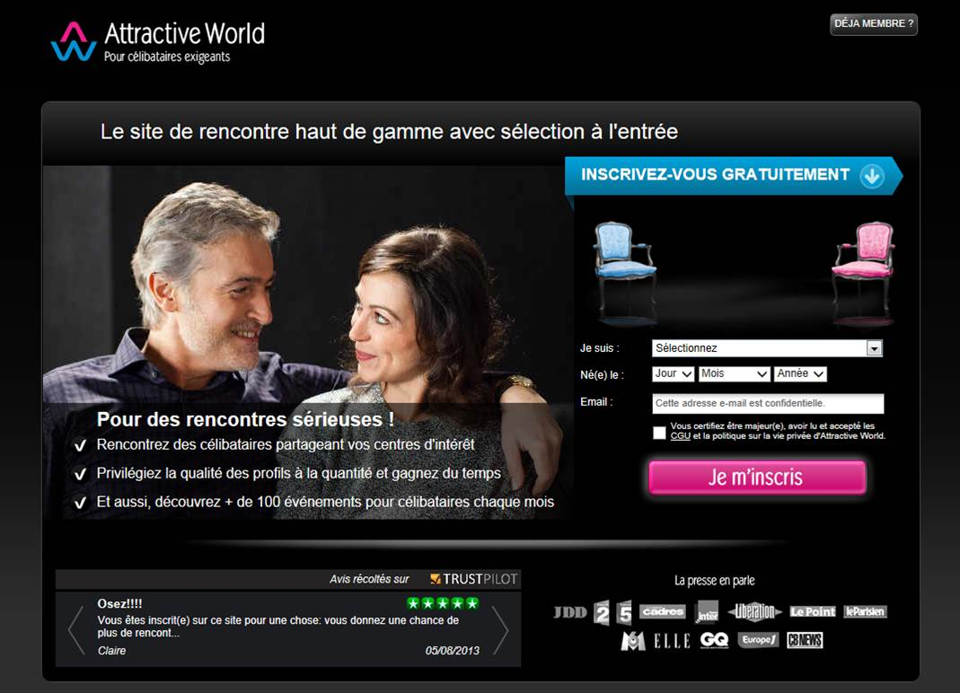 Sites de rencontre: Attractive World
