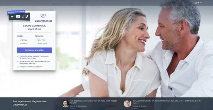 Bewertungen von nur dating-sites für singles über 50 2020