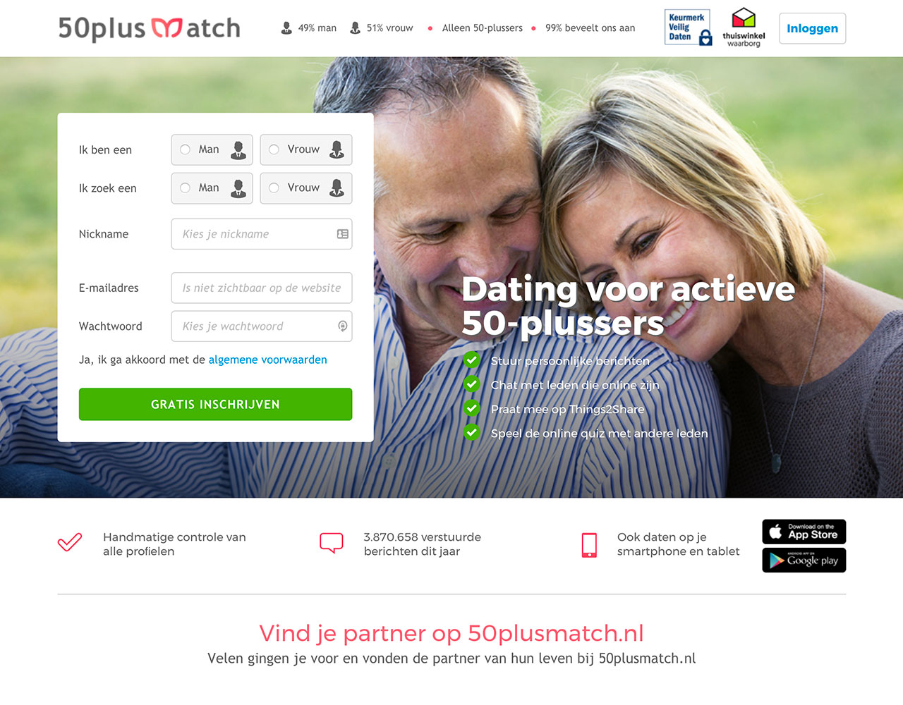datingsites 50plusmatch.nl